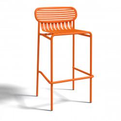 Tabouret design Week-end, Oxyo mandarine