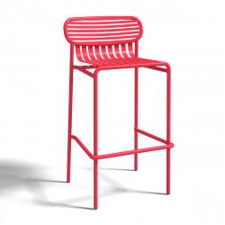 Tabouret design Week-end, Oxyo fraise