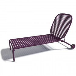 Chaise longue design Week-end, Oxyo mûre