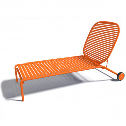 Chaise longue design Week-end, Oxyo mandarine