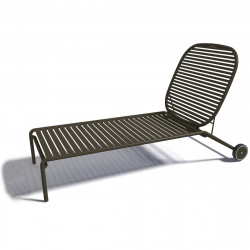 Chaise longue design Week-end, Oxyo brun olive
