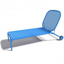 Chaise longue design Week-end, Oxyo ciel