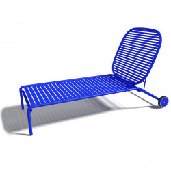 Chaise longue design Week-end, Oxyo outremer
