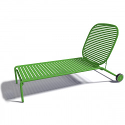 Chaise longue design Week-end, Oxyo trèfle