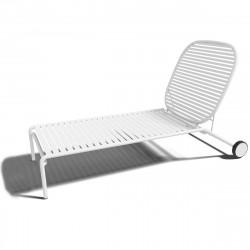 Chaise longue design Week-end, Oxyo blanc