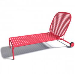 Chaise longue design Week-end, Oxyo fraise