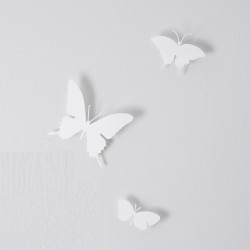 Papillons horloge Butterfly, Diamantini & Domeniconi blanc