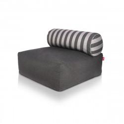 Pouf design Tsjonge, Fatboy gris foncé dossier rayures grises