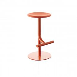 Tabouret haut design Tibu, Magis rouge corail Modèle réglable