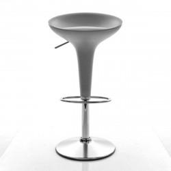 Tabouret de bar Bombo, Magis gris métallisé Fixe H75,5 cm