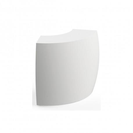 Elément d'angle Bar Igloo, Pedrali blanc Lumineux à ampoule