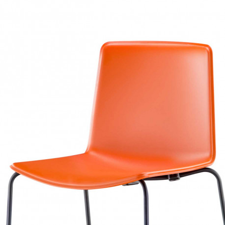 Chaise Tweet 897, Pedrali orange Pieds vernis