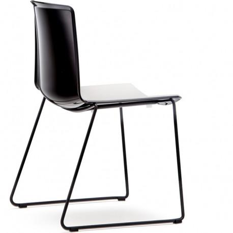 Chaise Tweet 897, Pedrali noir, blanc Pieds vernis