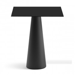 Mange debout design Fura carré, Plust Collection base noire perlée, plateau noir