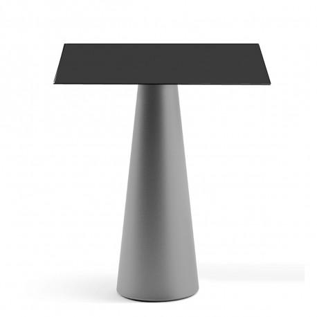 Mange debout design Fura carré, Plust Collection base cendrée, plateau noir