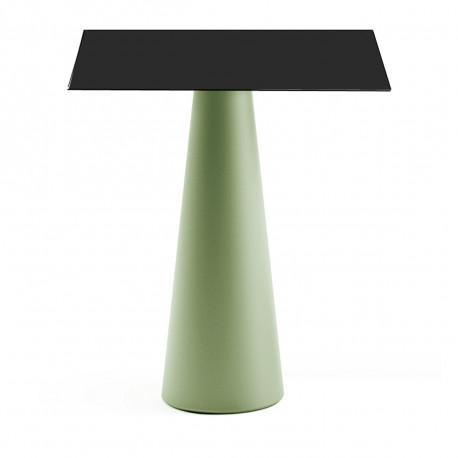 Mange debout design Fura carré, Plust Collection base romarin, plateau noir