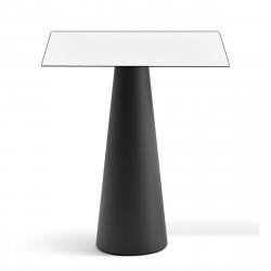 Mange debout design Fura carré, Plust Collection base noire perlée, plateau blanc