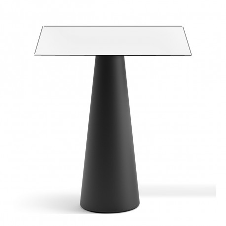 mange debout design fura carr plust collection base noire perl e plateau blanc cerise sur. Black Bedroom Furniture Sets. Home Design Ideas
