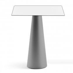 Mange debout design Fura carré, Plust Collection base cendrée, plateau blanc