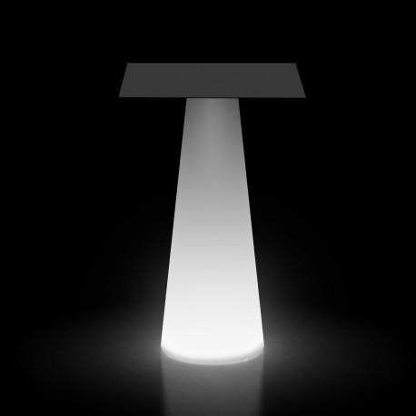 Mange debout design Fura carré, Plust Collection base lumineuse, plateau noir