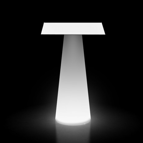 Mange debout design Fura carré, Plust Collection base lumineuse, plateau blanc