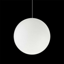 Lampe suspension Globo Hanging In, Slide blanc Diamètre 30 cm