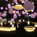 Lampe suspension Globo Hanging In, Slide blanc Diamètre 80 cm