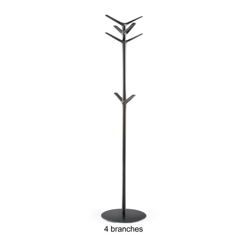 Porte Manteau Design Flag Pedrali Noir 5 Branches Cerise Sur La Deco