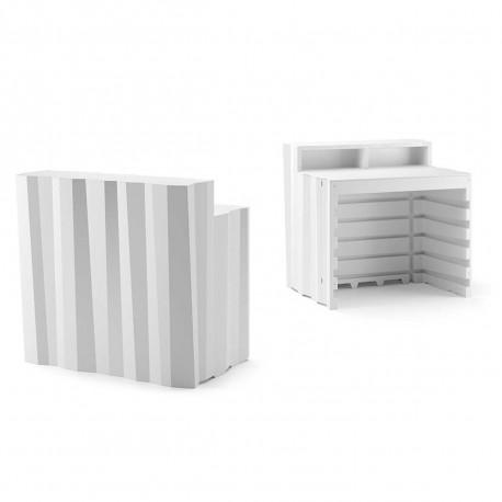 Elément droit Bar design Frozen, Plust blanc Mat