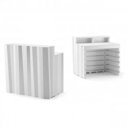 Elément droit Bar design Frozen, Plust blanc Lumineux LED RGB fil
