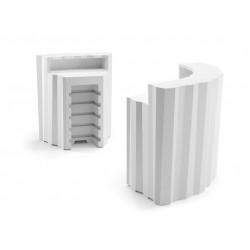 Elément d'angle Bar design Frozen, Plust blanc Mat