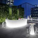 Elément d'angle Bar design Frozen, Plust blanc Lumineux à ampoule
