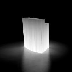 Elément d\'angle Bar design Frozen, Plust blanc Lumineux à ampoule