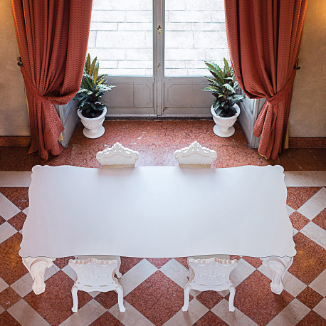Table Sir of Love, Design of Love by Slide blanc Longueur 200 cm
