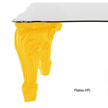 Table Sir of Love, Design of Love by Slide jaune Longueur 200 cm