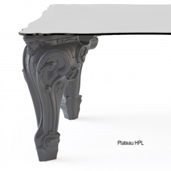 Table Sir of Love, Design of Love by Slide gris Longueur 200 cm