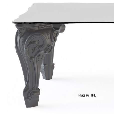 Table Sir of Love, Design of Love by Slide gris Longueur 200 cm