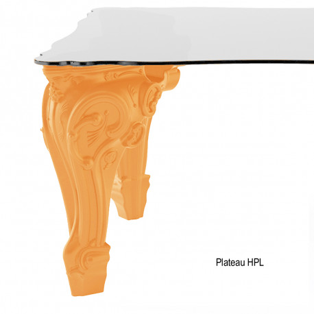 Table Sir of Love, Design of Love by Slide orange Longueur 200 cm