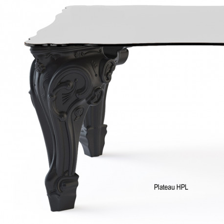 Table Sir of Love, Design of Love by Slide noir Longueur 260 cm