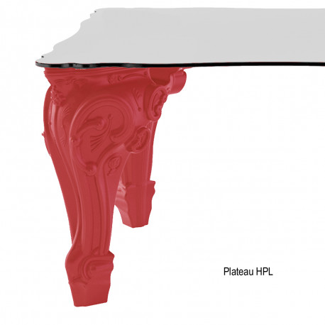 Table Sir of Love, Design of Love by Slide rouge Longueur 260 cm