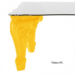 Table Sir of Love, Design of Love by Slide jaune Longueur 260 cm
