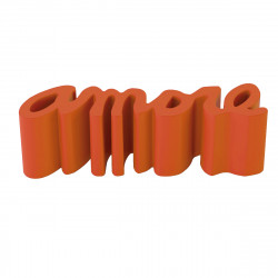 Banc Amore, Slide Design orange Lumineux