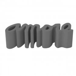 Banc Amore, Slide Design gris Laqué