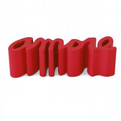 Banc Amore, Slide Design rouge Laqué