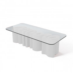 Table basse Amore, Slide Design blanc Laqué