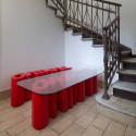 Table basse Amore, Slide Design blanc Laqué