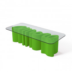 Table basse Amore, Slide Design vert Laqué