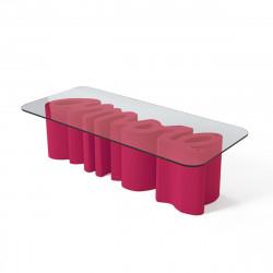 Table basse Amore, Slide Design magenta Laqué