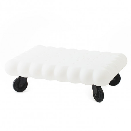 Table basse biscuit Tea Time, Slide Design blanc Mat