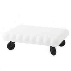 Table basse biscuit Tea Time, Slide Design blanc Laqué